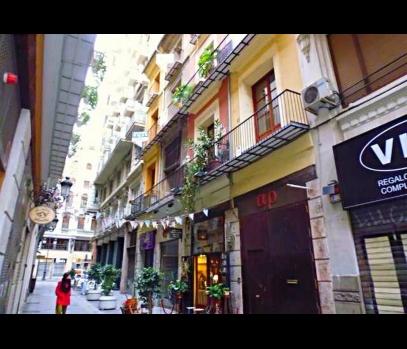 Историческое здание в центре города Валенсия, Испания